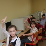 Klasa IIa w pracowni komputerowej