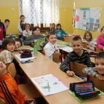 Klasa IIa podczas lekcji j. angielskiego