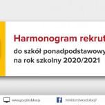 Harmonogram rekrutacji do szkół ponadpodstawowych